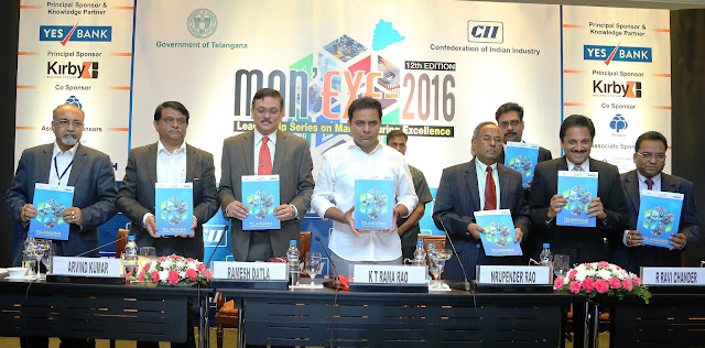 CII Telangana organised a one day conference – Man'Exe 2016 focusing on the theme 'Make in Telangana