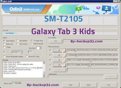 سوفت وير هاتف Galaxy Tab 3 Kids موديل SM-T2105 روم الاصلاح 4 ملفات تحميل مباشر