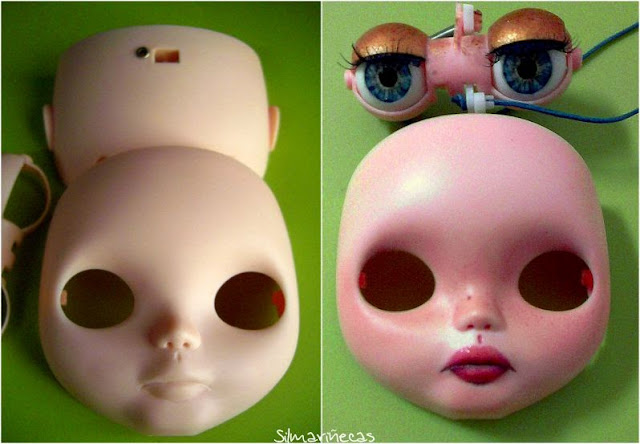 Maquillaje de los párpados de basaak doll - blythe