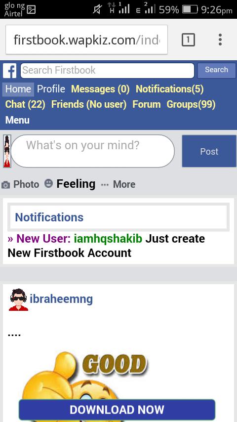 How to create social media like facebook on Wapkiz part 5