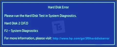 حل مشكلة hard disk - (3f0)