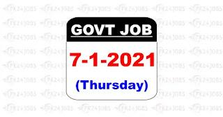 today govt jobs