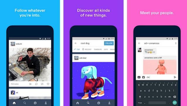 Tumblr - أفضل تطبيقات التواصل الاجتماعي للاندرويد