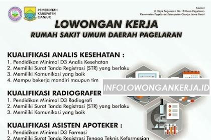 Info Lowongan Kerja Rumah Sakit Umum Daerah Pagelaran Cianjur