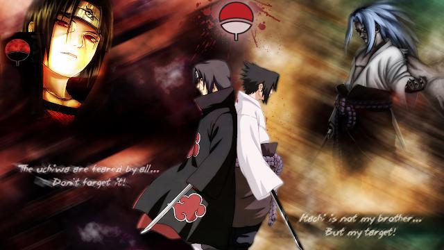 wallapper sasuke vs itachi