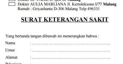 Contoh Surat Izin Dokter Malang Surat 32