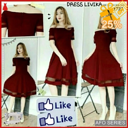 AFO091 Model Fashion Dress Livika LD 75P 70 Murah BMGShop