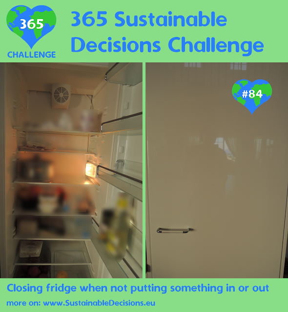 Closing fridge when not putting something in or out saving energy