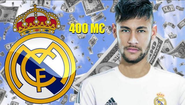El Madrid cifra al fichaje de Neymar en 400 millones de Euros
