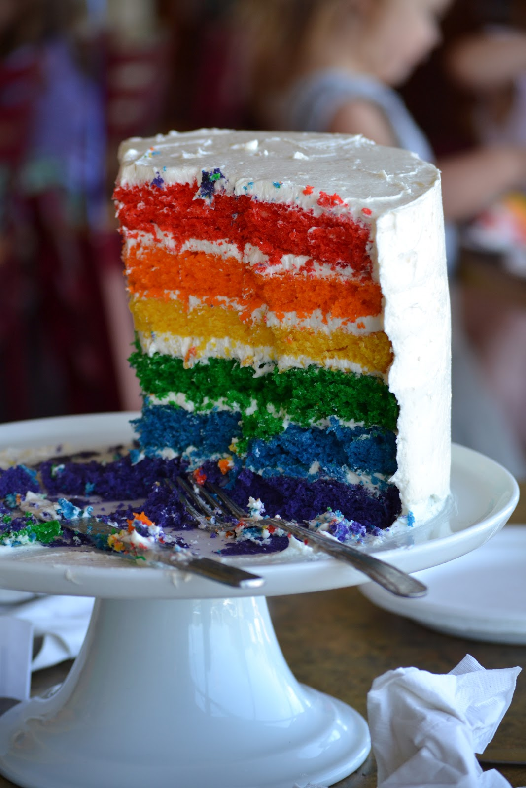 This Calls For A Treat Rainbow Birthday Cake