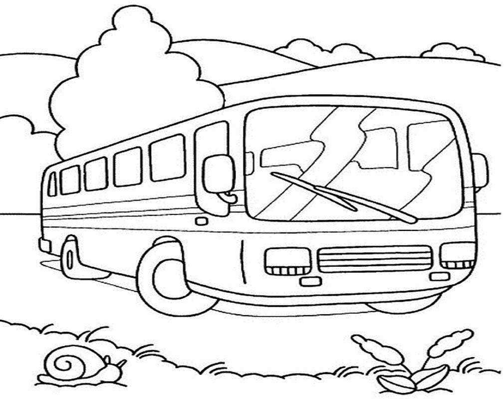 Gambar Mewarnai Aneka Bus Kota Gambar Mewarnai
