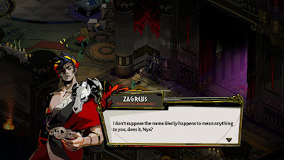 Zagreus speaks with Nyx in Hades