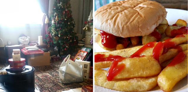 Organising Christmas presents & a chip butty