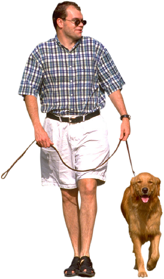 Photoshop Image People Walking Dog
