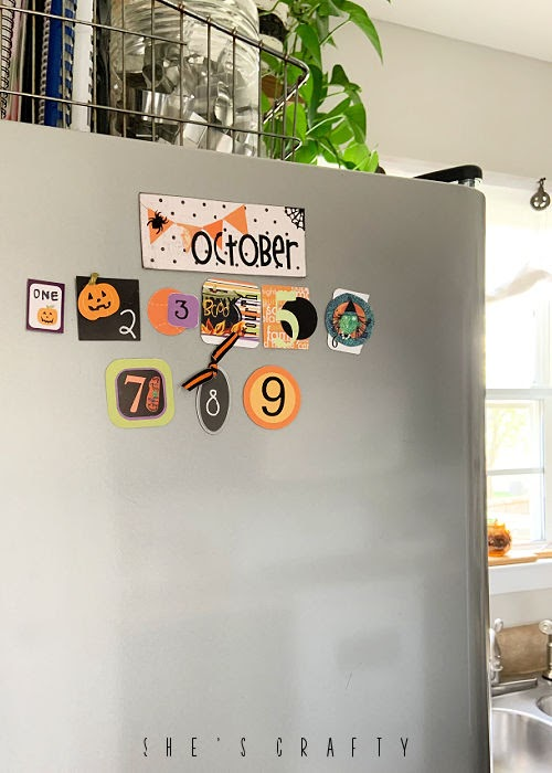 Halloween Home Decor - countdown calendar for Halloween
