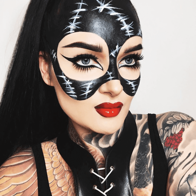 Maquiagem Mulher Gato Halloween