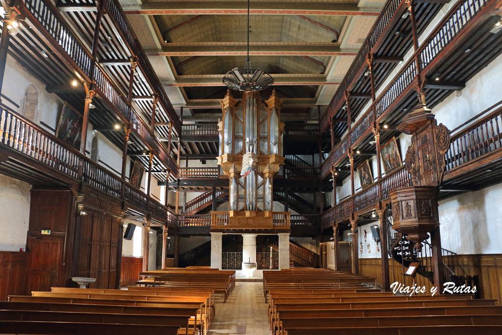 Qué ver en San Juan de Luz: Interior de la Iglesia de San Vicente