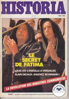 Revue Historia, 426 1982, le secret de Fatima