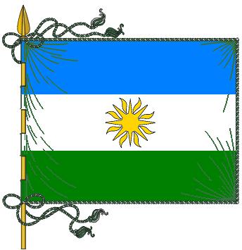 Horizontal bandera y verde blanco azul
