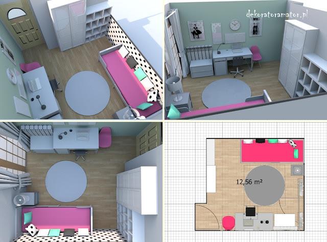 pokój dziecięcy, pokój dziewczynki, metamorfoza pokoju, goszki, kropki, ikea, kidsroom, girls room