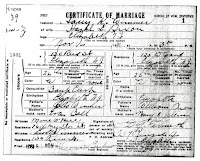 Marriage Cert. Hazel Dixon, Harry Wimmer, 1931. New Jersey Department of Health, Bureau of Vital Records, Trenton. NJSA microfilm roll 525 (Marriage Certificates 1931: Wat - Z)