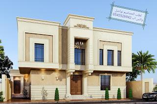 تصاميم واجهات منازل كلاسيكية