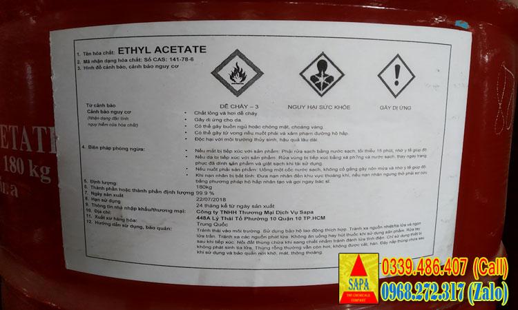 Dung môi Ethyl Acetate (EA)