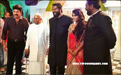 Mammootty in Jean Paul Lal's wedding reception
