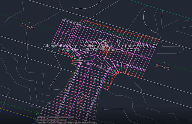 Intersection using a corridor in Autodesk Civil 3D