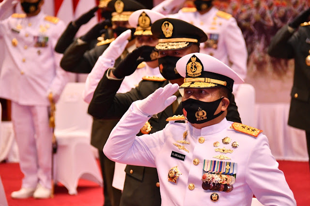 Mabes TNI Gelar Upacara HUT Ke-75 RI Secara Virtual