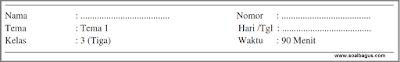 Soal PTS. UTS. MID Kelas 3 Semester 1 Th. 2019. Tematik. Tema 1. Kurtilas. kunci jawaban. pdf. doc. edit. pg. isian. essay.
