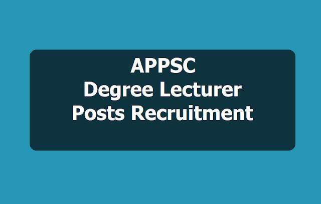 APPSC DL Degree Lecturer posts