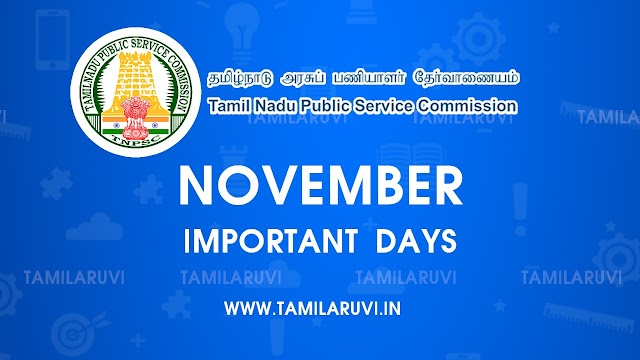 November Month Important Days Current Affairs