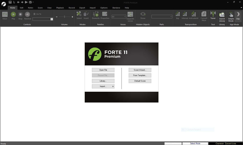 تحميل برنامج تدوين موسيقي قوي Forte Notation FORTE 11 Premium 11.2
