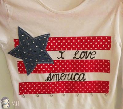 Camiseta customizada USA