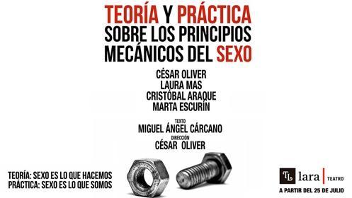 TEORÍA Y PRÁCTICA SOBRE LOS PRINCIPIOS MECÁNICOS DEL SEXO: UNA DUALIDAD TEATRAL CON AMISTAD Y AMOR