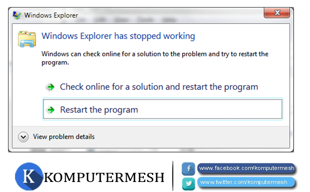Cara Ampuh Mengatasi Has Stopped Working Pada Windows
