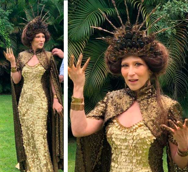 Vestido Dourado Sodoma rainha