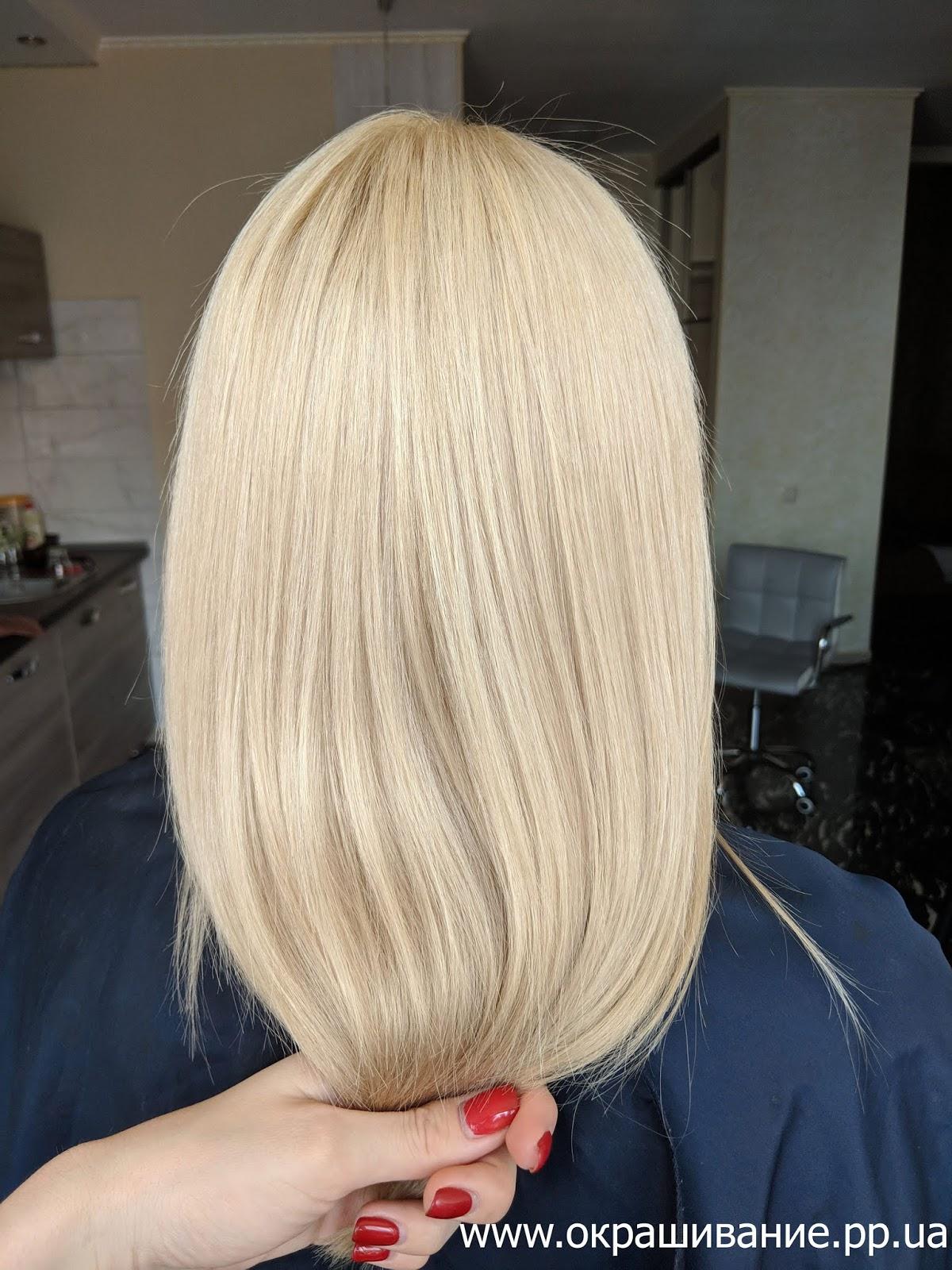 Красивая покраска волос для блондинок