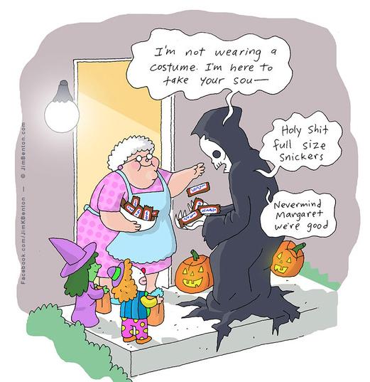 funny death sketch halloween