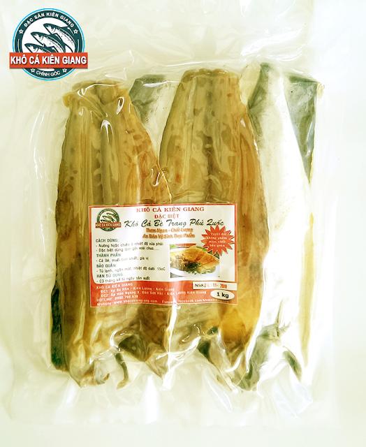 Đặc sản Khô Cá Bè Trang Phú Quốc đóng gói hút chân không tại Khô Cá Kiên Giang