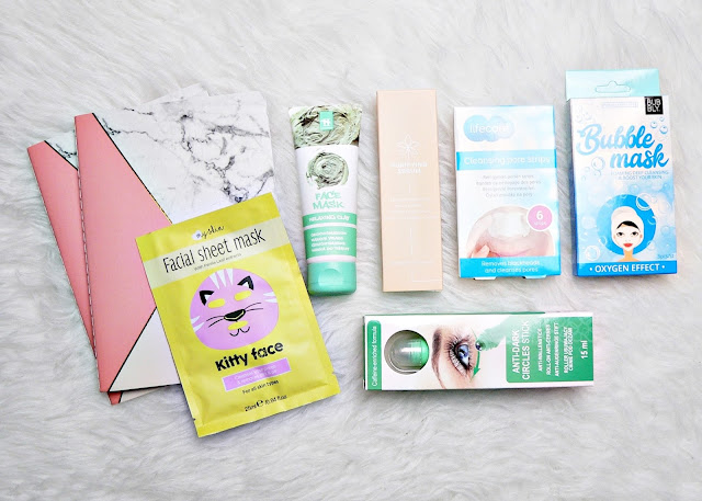 Anti-dark circles stick - Purifying serum - Cleansing pore strips notitieboekjes marmer, sheet mask, bubblemask, clay mask,