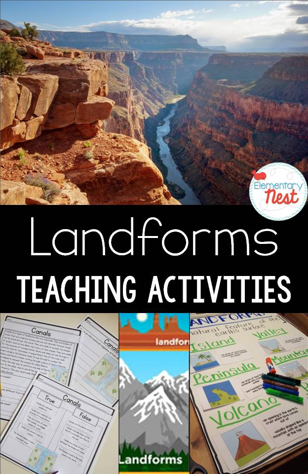 Teaching Landforms Hands On Activity Ideas For Kids No Prep Engaging Landform
