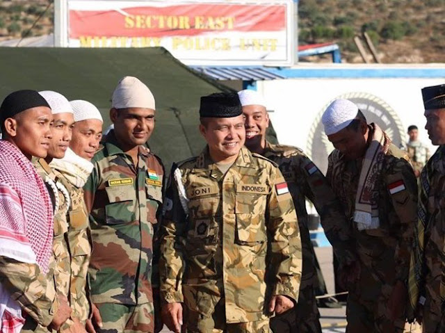Salut Melihat Potret Para TNI Menjalani Lebaran di Negeri Orang