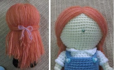 Making Hair Amigurumi Dolls : Tutorial to make Hair for an Amigurumi Doll - Sayjai ...