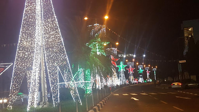 beautiful Christmas decoration sponsored by Zenith Bank