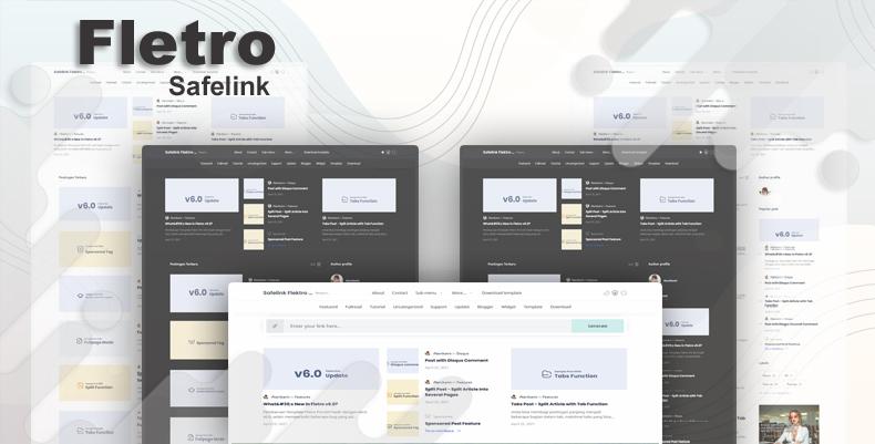 Fletro v6.0 Safelink Responsive Blogger Template