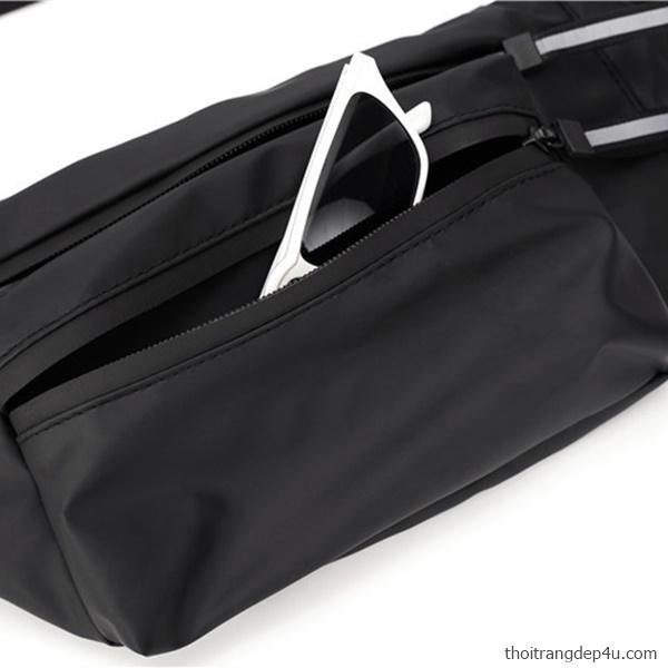 Túi đeo chéo bao tử vải dù nam độc đáo thời trang cao cấp BAM061