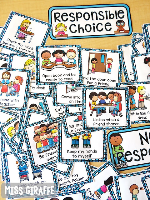 Classroom Routines and Procedures for Elementary checklist visual cards you can sort in a pocket chart center or use for whole group lessons about behavior and classroom rules.. you can use these behavior sorts for so many different classroom management lessons!