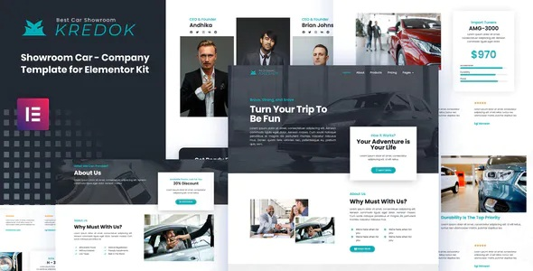 Best Car Showroom Elementor Template Kit